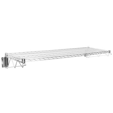 "18"" X 60"" Chrome Wire Wall Mount Shelf - AmGoodSupply.com"