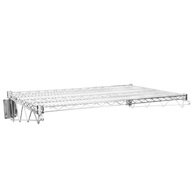 "24"" X 36"" Chrome Wire Wall Mount Shelf - AmGoodSupply.com"