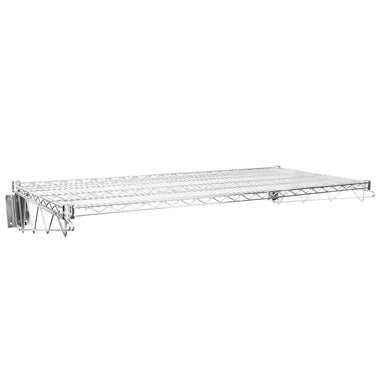 "24"" X 48"" Chrome Wire Wall Mount Shelf"