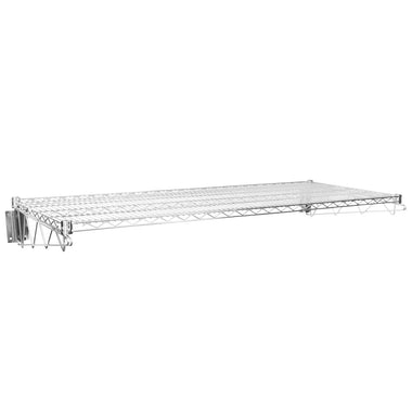 "24"" X 60"" Chrome Wire Wall Mount Shelf"