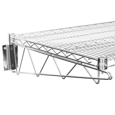 "24"" X 60"" Chrome Wire Wall Mount Shelf - AmGoodSupply.com"