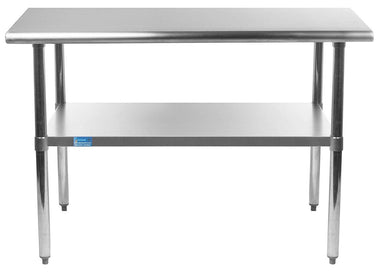 "24"" X 36"" Stainless Steel Work Table With Galvanized Undershelf"