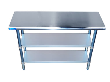 "18"" X 48"" Stainless Steel Work Table With 2 Undershelf"