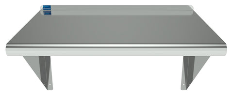"16"" X 24"" Stainless Steel Wall Mount Shelf - AmGoodSupply.com"