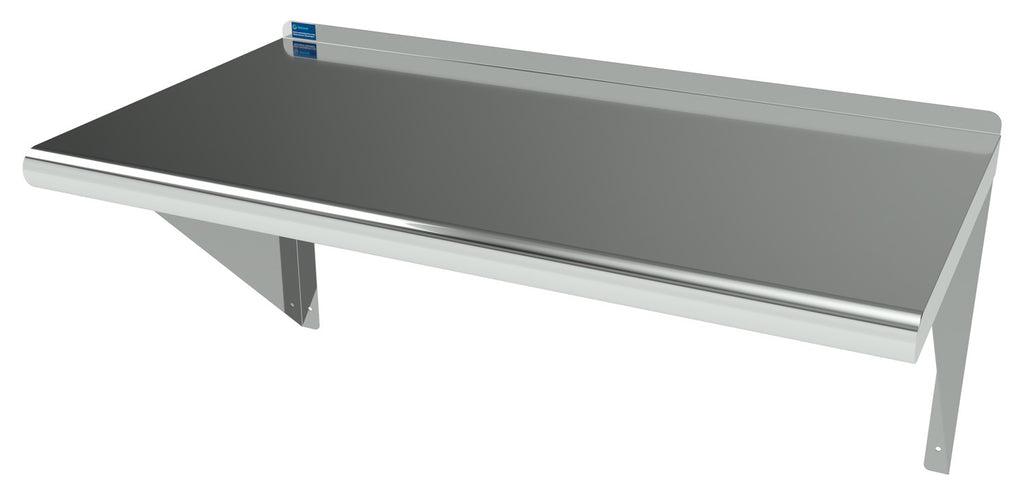 "16"" X 30"" Stainless Steel Wall Mount Shelf - AmGoodSupply.com"