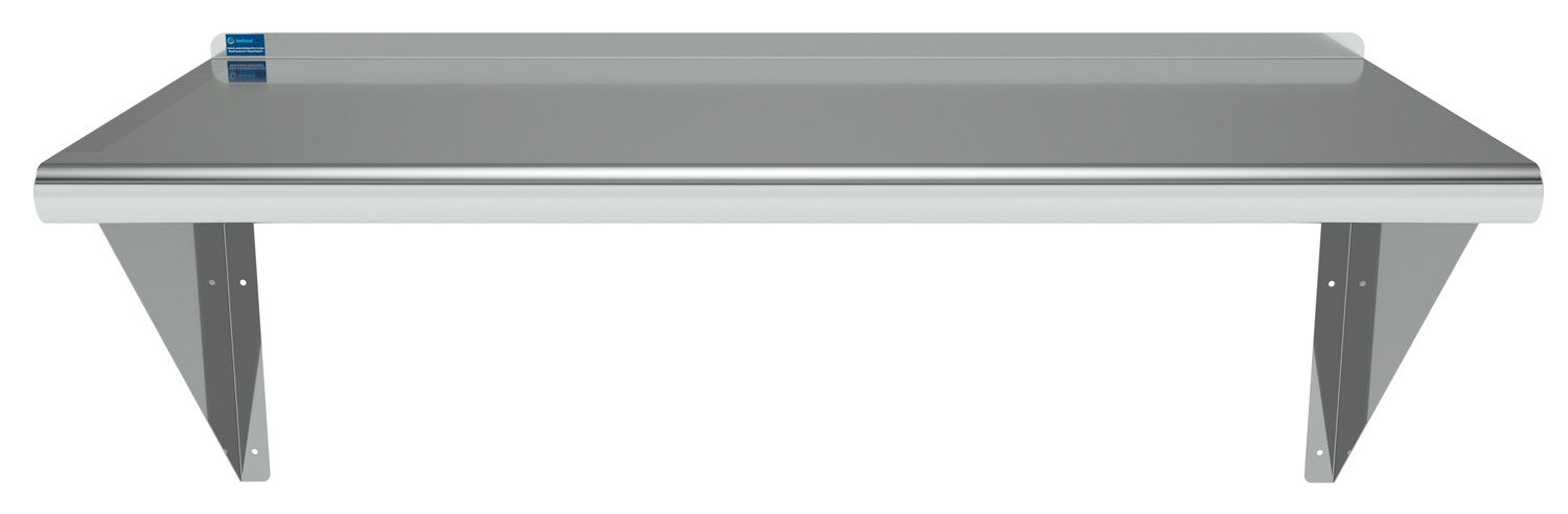 "16"" X 36"" Stainless Steel Wall Mount Shelf - AmGoodSupply.com"