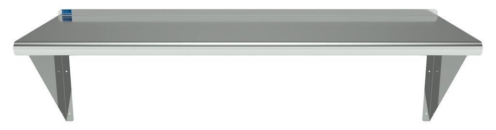 "16"" X 48"" Stainless Steel Wall Mount Shelf - AmGoodSupply.com"