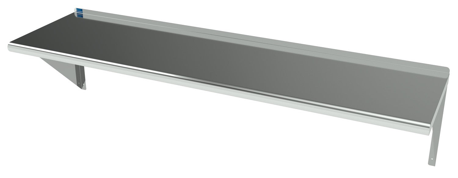 "16"" X 72"" Stainless Steel Wall Mount Shelf - AmGoodSupply.com"