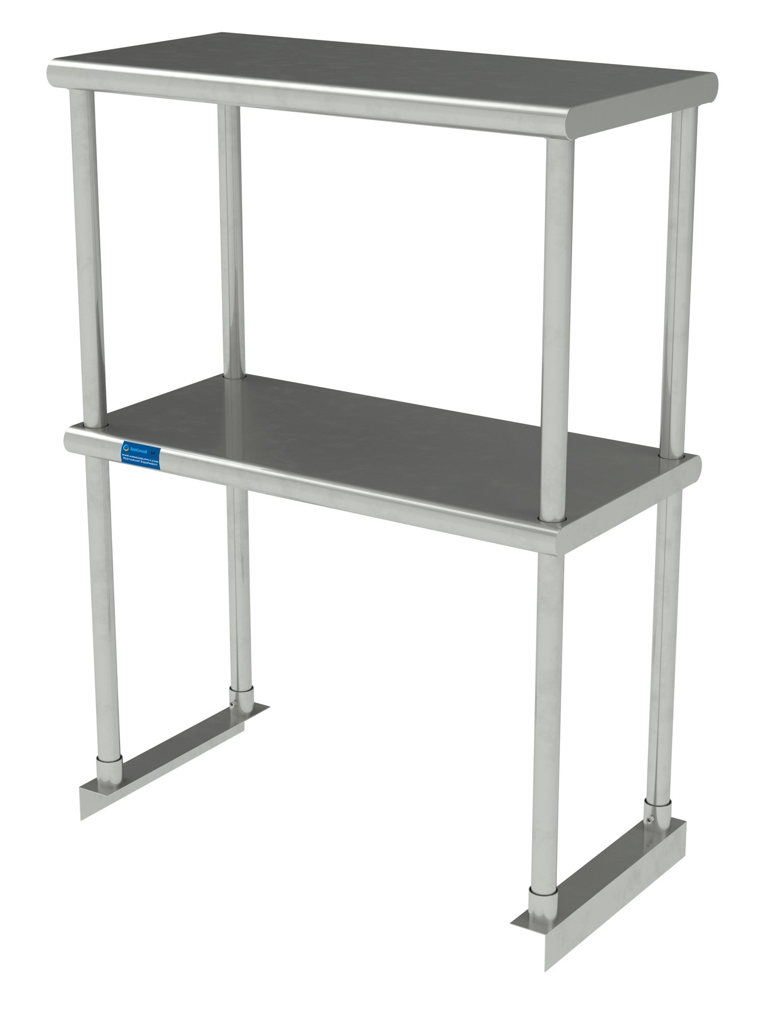 "12"" X 24"" Stainless Steel Double-Tier Shelf - AmGoodSupply.com"
