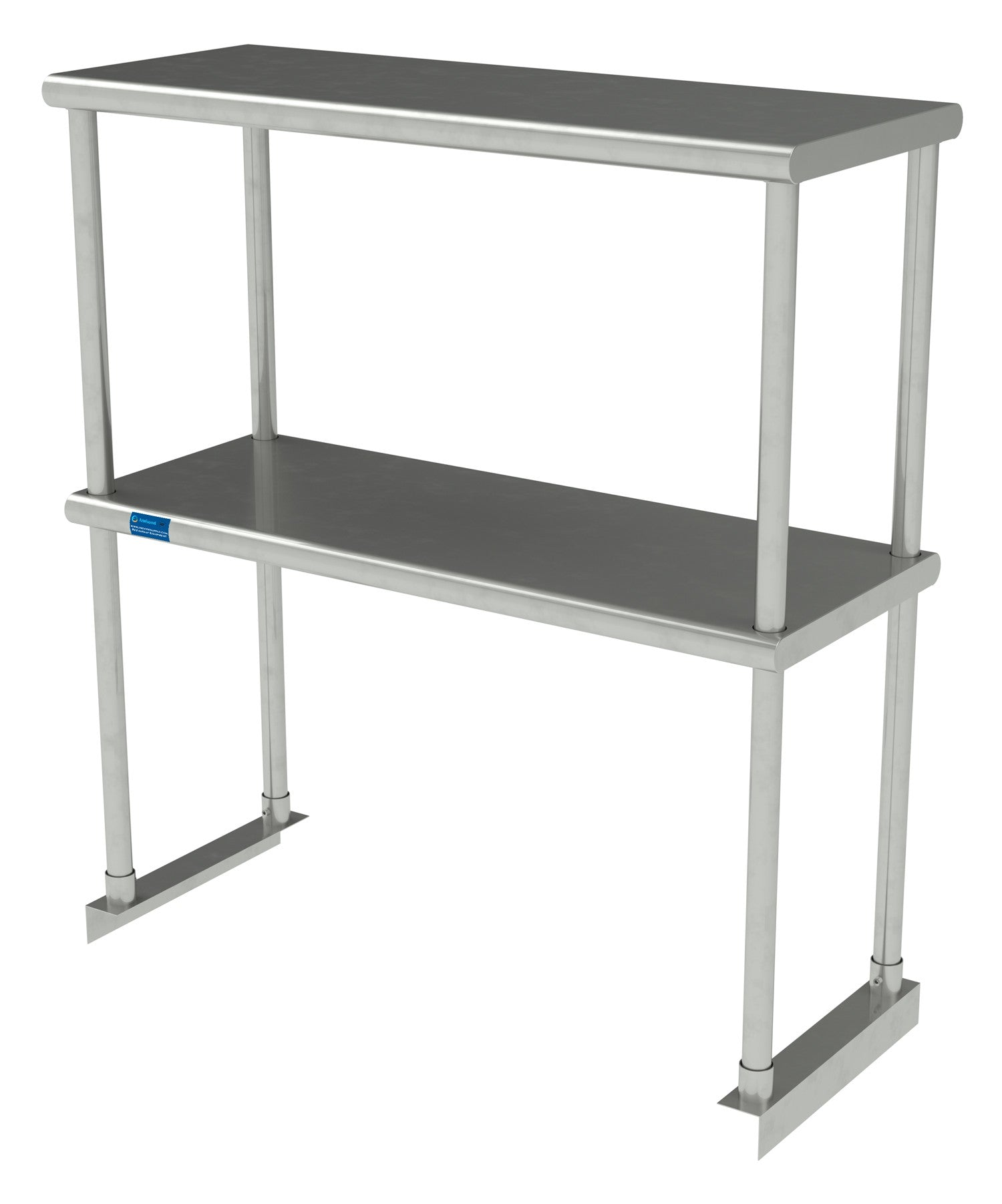 "12"" X 30"" Stainless Steel Double-Tier Shelf - AmGoodSupply.com"
