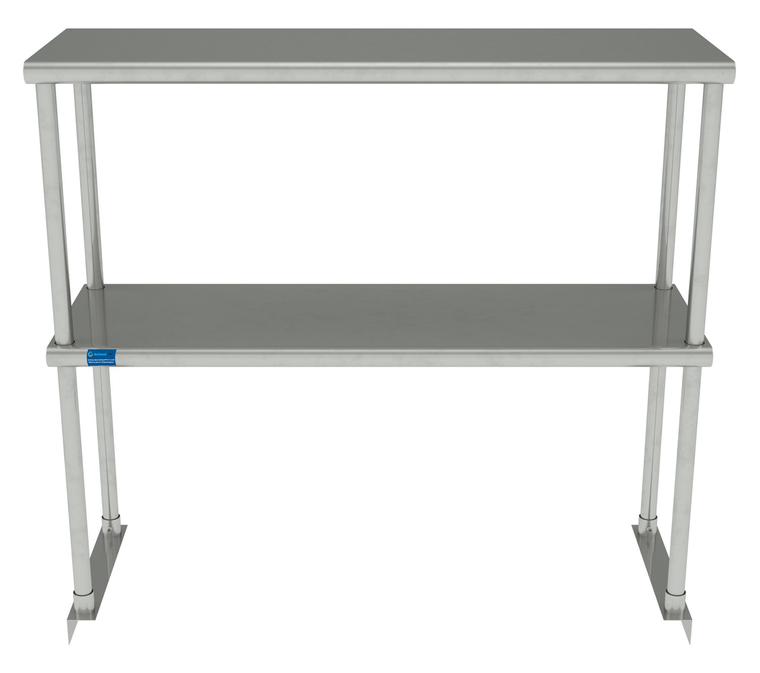"12"" X 36"" Stainless Steel Double-Tier Shelf - AmGoodSupply.com"