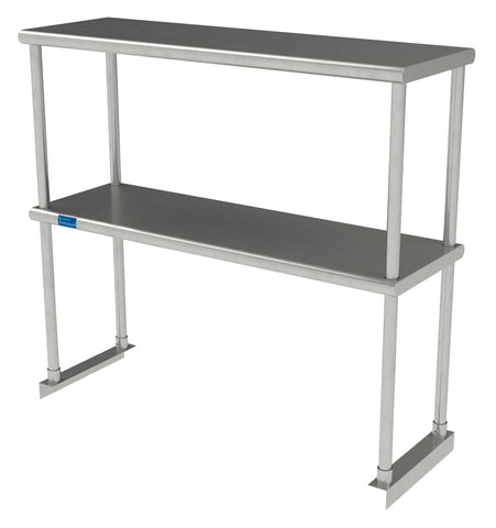 "12"" X 36"" Stainless Steel Double-Tier Shelf"