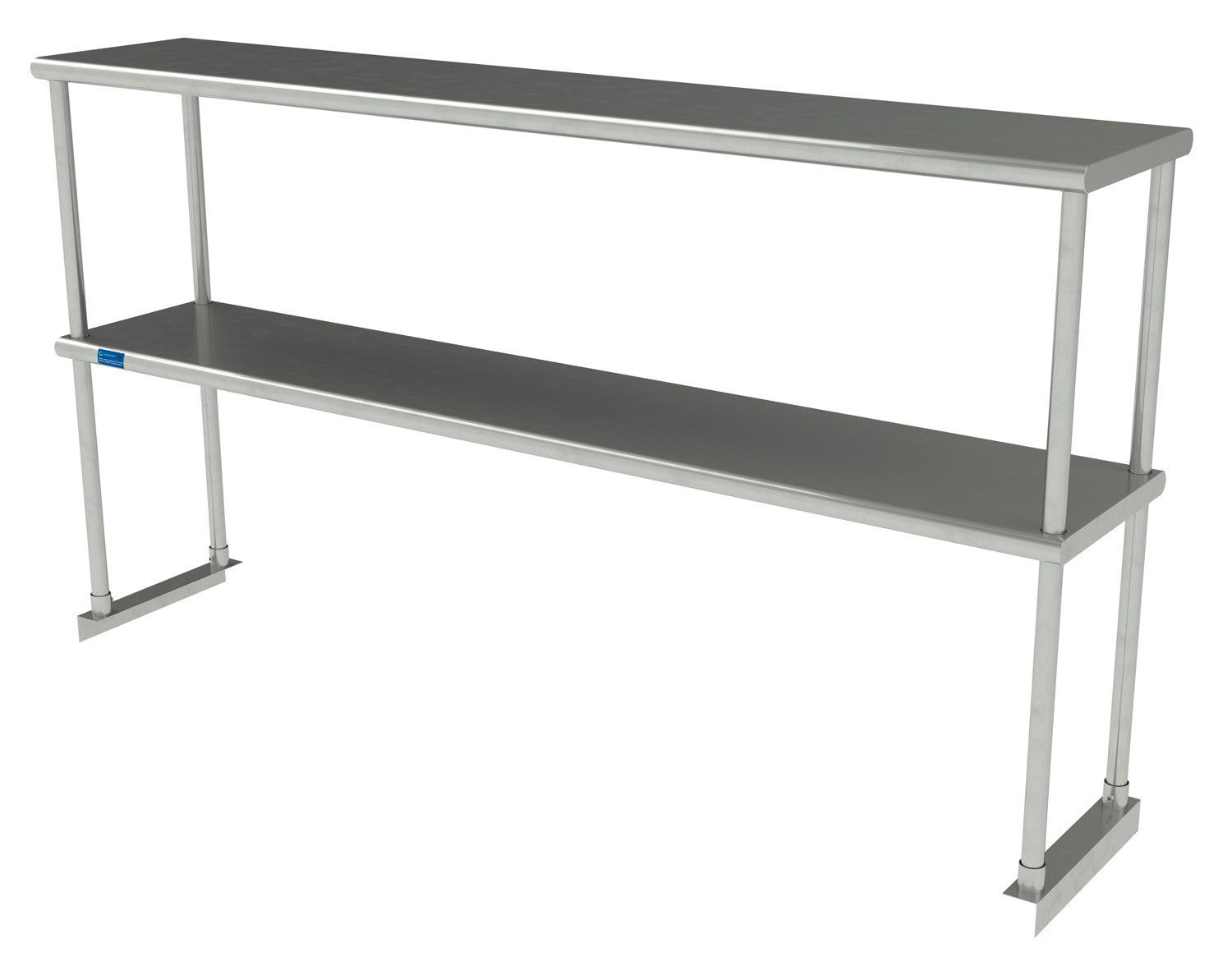 "12"" X 60"" Stainless Steel Double-Tier Shelf - AmGoodSupply.com"