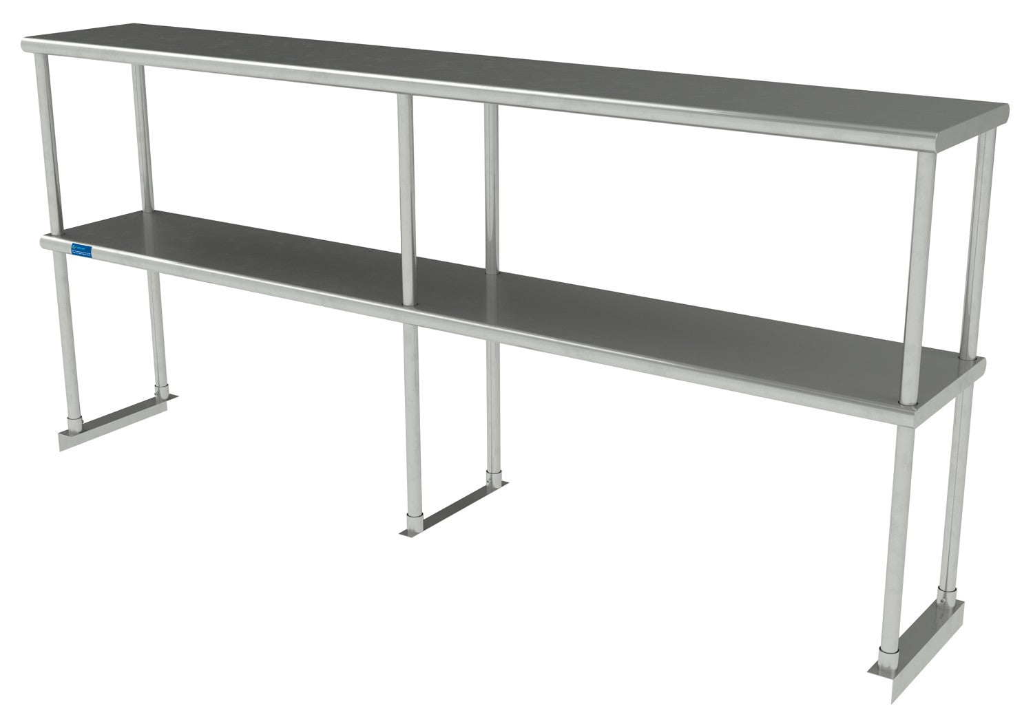 "12"" X 72"" Stainless Steel Double-Tier Shelf - AmGoodSupply.com"