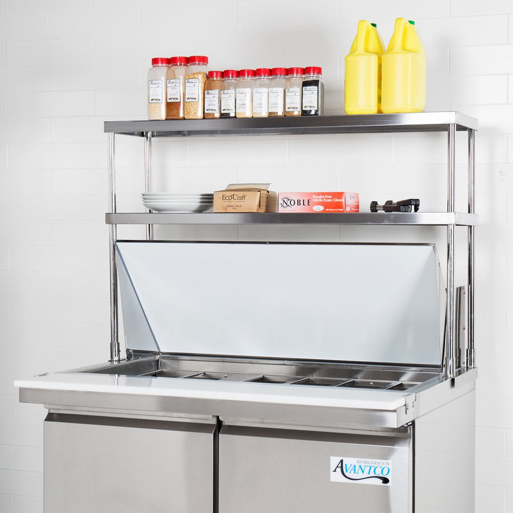 "14"" X 24"" Stainless Steel Double-Tier Shelf - AmGoodSupply.com"