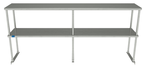 "14"" X 72"" Stainless Steel Double-Tier Shelf"