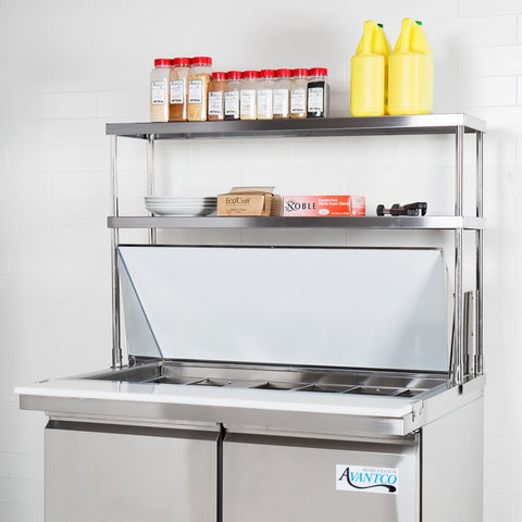 "18"" X 30"" Stainless Steel Double-Tier Shelf - AmGoodSupply.com"