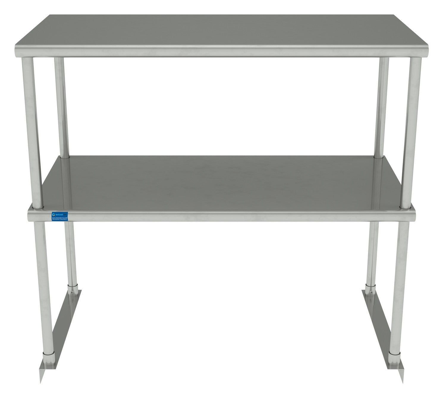 "18"" X 36"" Stainless Steel Double-Tier Shelf - AmGoodSupply.com"