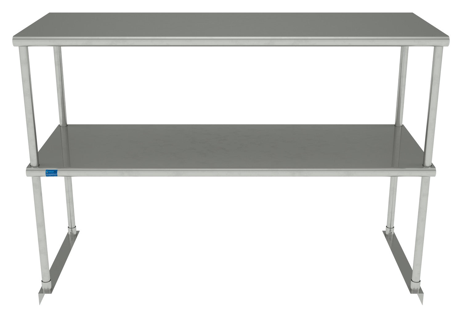 "18"" X 48"" Stainless Steel Double-Tier Shelf - AmGoodSupply.com"