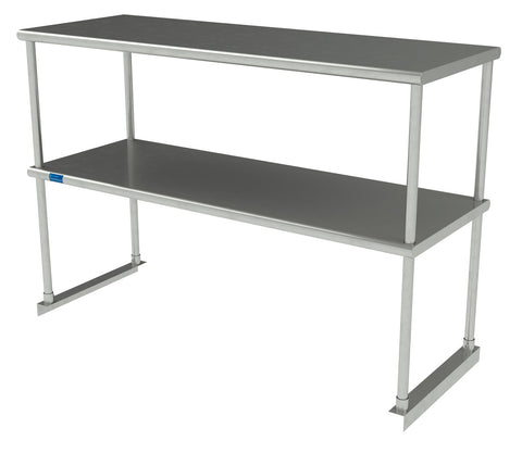 "18"" X 48"" Stainless Steel Double-Tier Shelf"