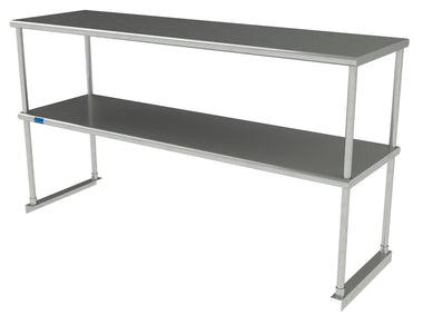 "18"" X 60"" Stainless Steel Double-Tier Shelf - AmGoodSupply.com"