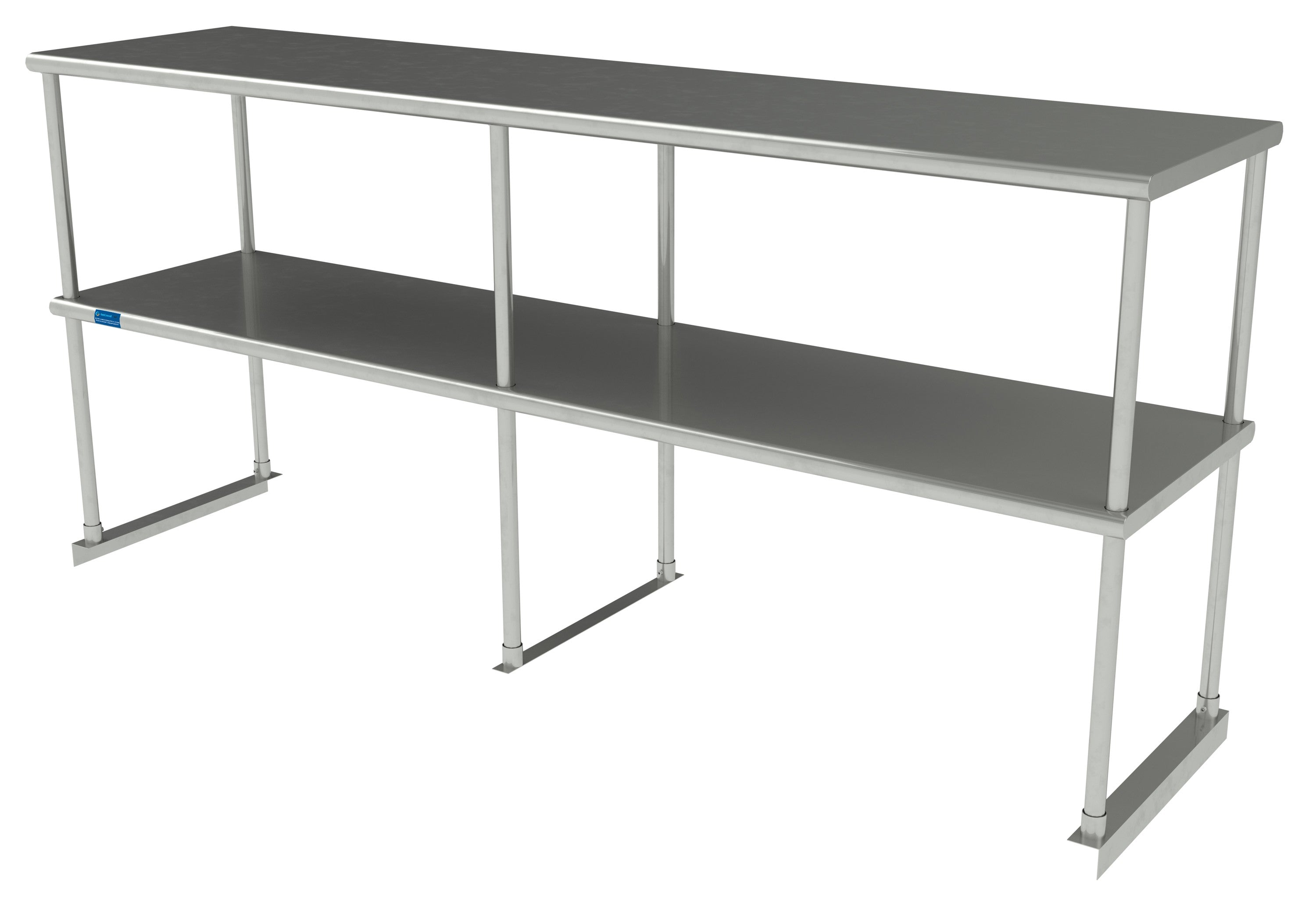 "18"" X 72"" Stainless Steel Double-Tier Shelf - AmGoodSupply.com"