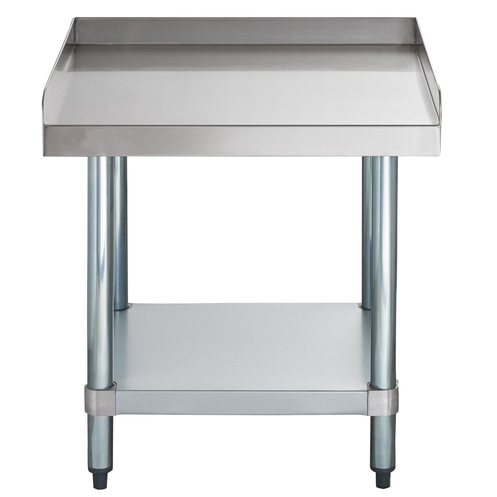 "24"" X 24"" Stainless Steel Equipment Stand With Galvanized Undershelf - AmGoodSupply.com"
