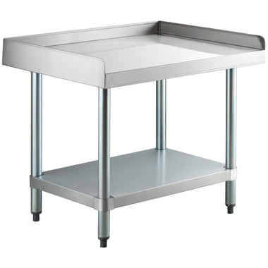 "24"" X 30"" Stainless Steel Equipment Stand With Galvanized Undershelf - AmGoodSupply.com"