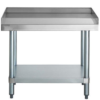 "24"" X 30"" Stainless Steel Equipment Stand With Galvanized Undershelf"