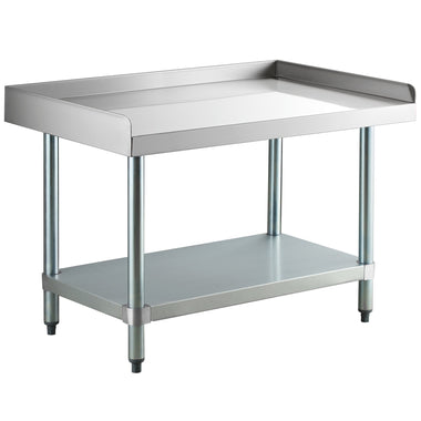 "24"" X 36"" Stainless Steel Equipment Stand With Galvanized Undershelf"