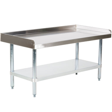 "24"" X 48"" Stainless Steel Equipment Stand With Galvanized Undershelf"