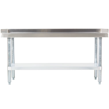 "24"" X 72"" Stainless Steel Equipment Stand With Galvanized Undershelf"