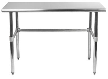 "30"" X 30"" Stainless Steel Work Table With Open Base"