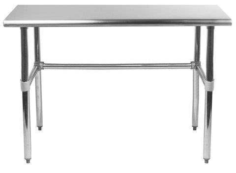 "30"" X 36"" Stainless Steel Work Table With Open Base"