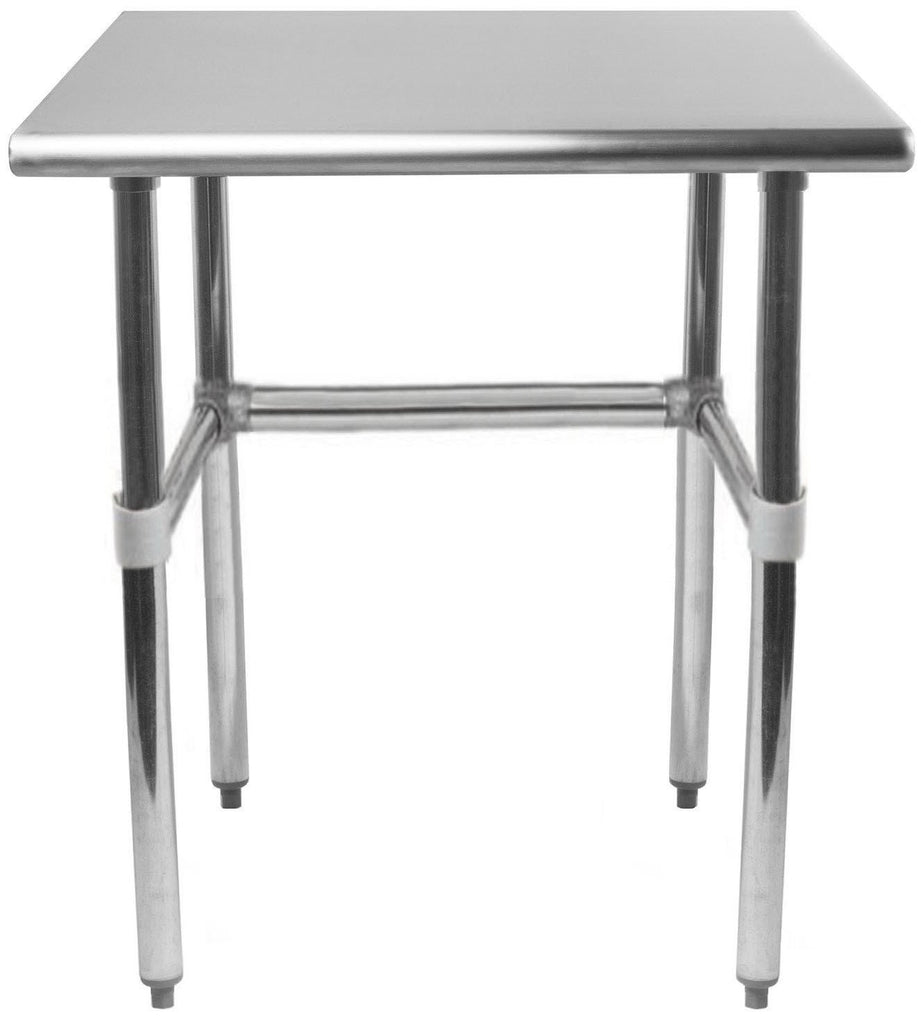 "30"" X 18"" Stainless Steel Work Table With Open Base"