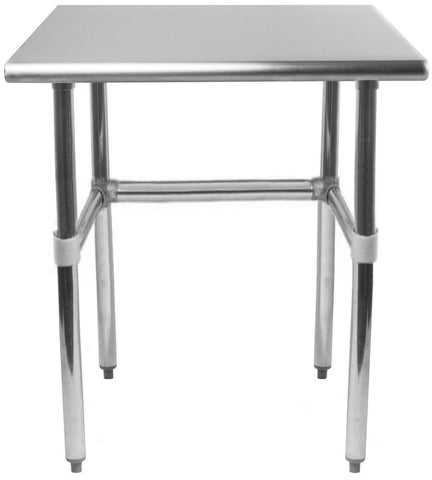 "30"" X 24"" Stainless Steel Work Table With Open Base"