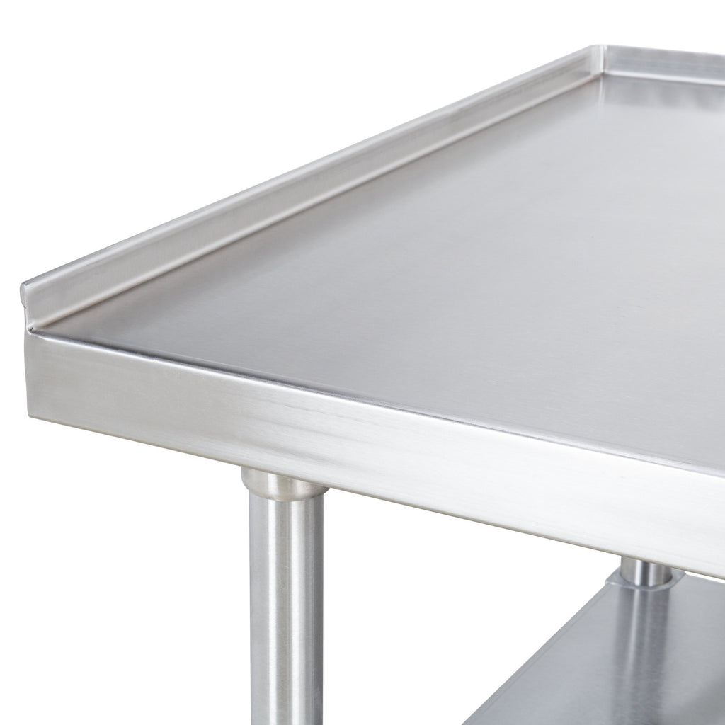 "24"" X 96"" Stainless Steel Equipment Stand With Galvanized Undershelf"