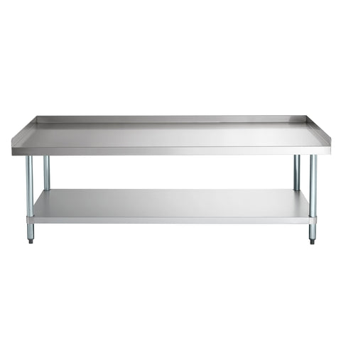 "30"" X 72"" Stainless Steel Equipment Stand With Galvanized Undershelf"