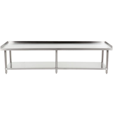 "30"" X 96"" Stainless Steel Equipment Stand With Galvanized Undershelf"