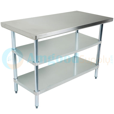 "30"" X 48"" Stainless Steel Work Table With 2 Undershelf"