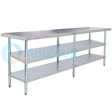 "30"" X 84"" Stainless Steel Work Table With 2 Undershelf"