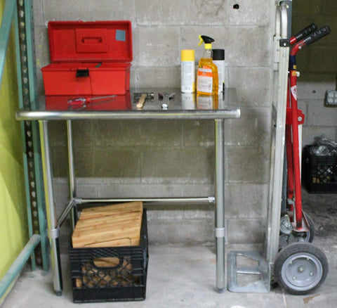 "24"" X 12"" Stainless Steel Work Table With Open Base - AmGoodSupply.com"