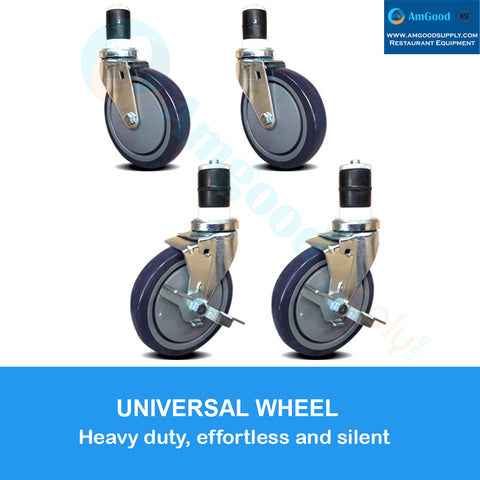 "Casters 5"" 2 with Brakes / 2 without Brakes (set of 4)"