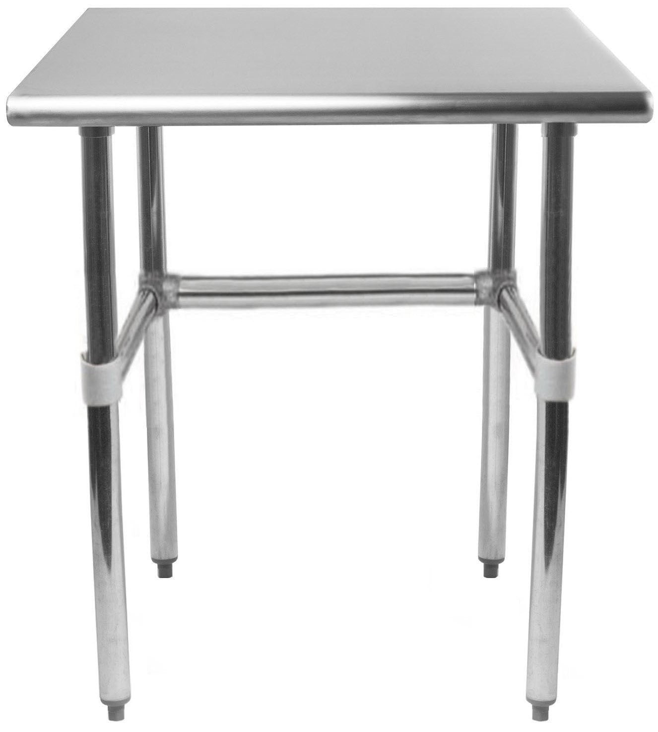 "14"" X 24"" Stainless Steel Work Table With Open Base - AmGoodSupply.com"