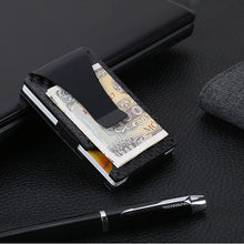 Load image into Gallery viewer, Carbon fiber security wallet - super slick and compact.