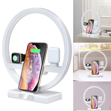 Load image into Gallery viewer, desk light circle fast charging for iPhone, airpods and iwatch at the same time!