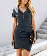 Load image into Gallery viewer, Casual summer t-shirt dress. 2020 fashion.