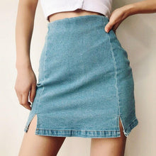 Load image into Gallery viewer, Sarah Denim Skirt in Blue *