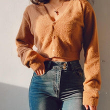 Load image into Gallery viewer, Kath Two-Piece Furry Sweater Top Set in Brown*