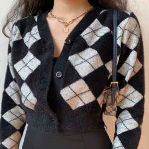 Xenia Checkered Sweater